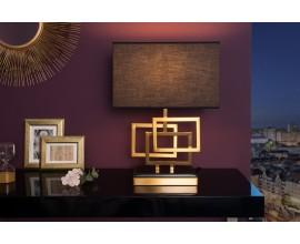 Dizajnová stolná lampa Tulsa zlatá
