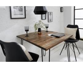 Jedálenský stôl z dreva a kovu Leeds 80cm štvorcový