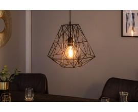 Dizajnová závesná lampa Mira čierna