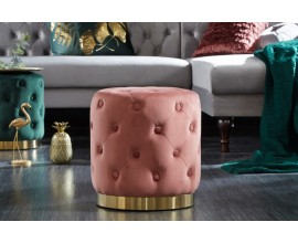 Luxusná taburetka Modern Barock v lososovej farbe