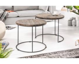 Dizajnový set príručných stolíkov Evariste