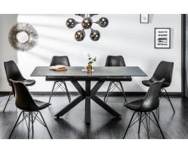 Industriálny rozkladací jedálenský stôl Callandra tmavošedý 180-225cm