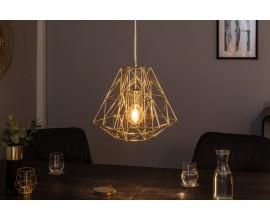 Dizajnová závesná lampa Mira zlatá