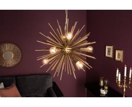 Dizajnový guľatý luster Ange v zlatej farbe