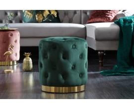 Luxusná taburetka Modern Barock v tmavozelenej farbe