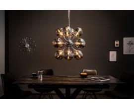 Dizajonový závesný atipický sklenený luster 72cm