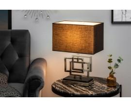 Dizajnová stolná lampa Tulsa strieborná