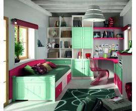 Luxusná detská izba Blanco Decape / Verde Agua / Coral