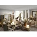Masívny stolík Bromo z dreva mindi so zásuvkami a odkladacím priestorom