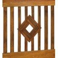 Luxusné zadné čelo postele vyrobené z masívu mahagónového dreva