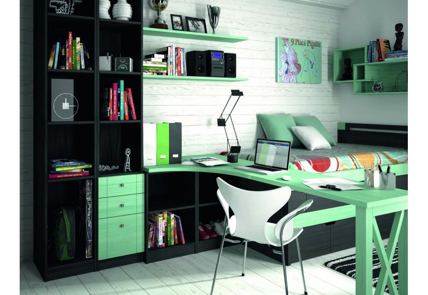 Luxusná detská izba Negro Humo / Verde Agua