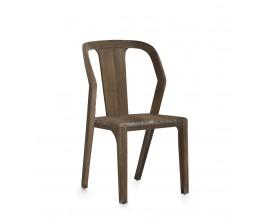 Prírodná jedálenská stolička z masívneho dreva