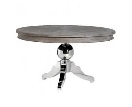 Dizajnový okrúhly jedálenský stôl z masívu Croma 140cm