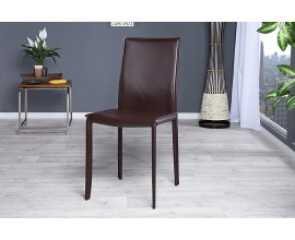 Dizajnová kožená elegantná stolička Milano