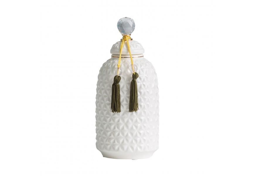 Dizajnová biela váza Heros 30cm