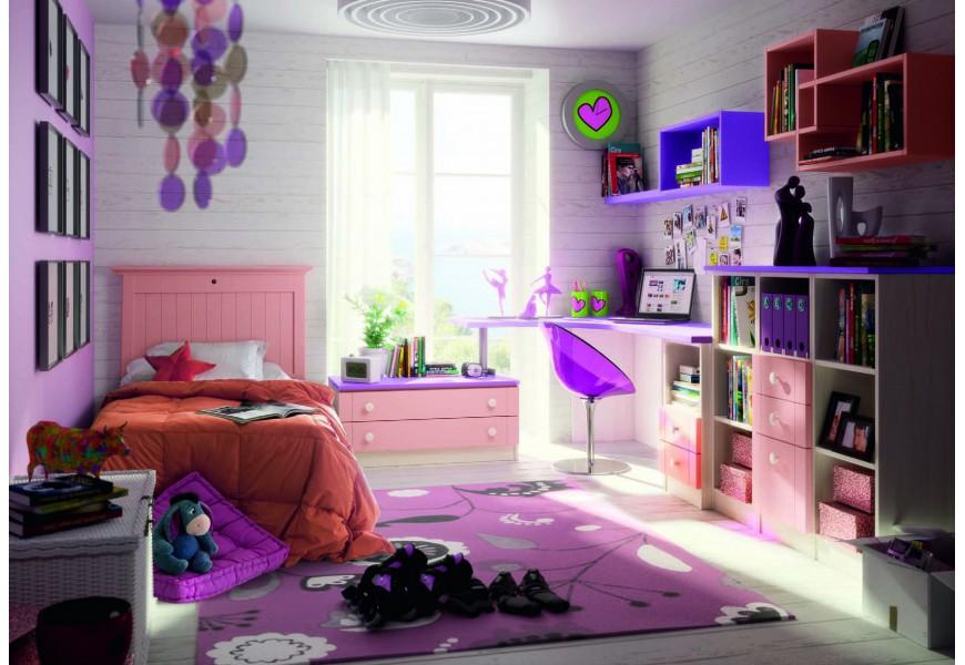Luxusná detská izba Rosa Palo / Lila / Blanco Decape