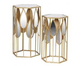 Luxusný art-deco set príručných stolíkov Satordi I