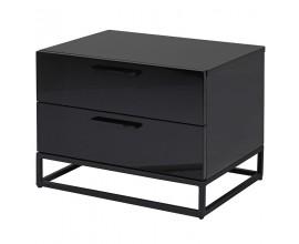 Dizajnový nočný stolík Sylvain s dvoma zásuvkami