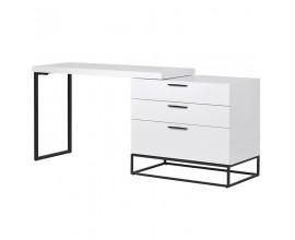 Dizajnový pracovný stôl Sylvain biely
