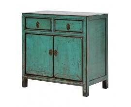 Štýlová vintage skrinka Verda modrozelená