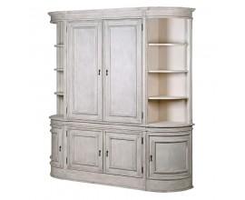 Luxusná provensálska vitrína Celene bielo šedá