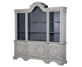 Luxusná provensálska vitrína Celene šedá