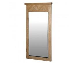 Dizajnové zrkadlo Madalyn s rámom z dubového dreva