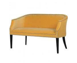 Štýlová art-deco sedačka Dawson v horčicovej farbe