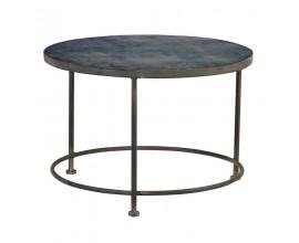 Štýlový vintage konferenčný stolík Dawson sklenený