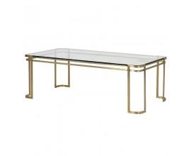 Art-deco exkluzívny konferenčný stolík Orenette Bloom obdĺžnikového tvaru