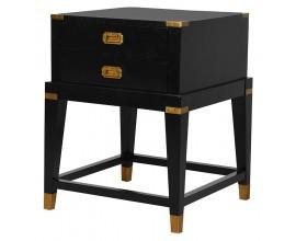 Art-deco luxusný nočný stolík Wielton Oro čierny