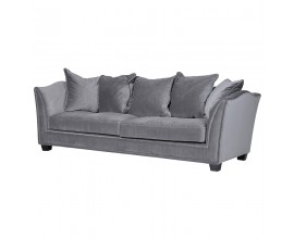 Exkluzívna Art-Deco čalúnená sedačka Thieny Gris sivá 228cm