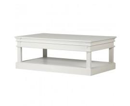 Provensálsky luxusný obdĺžnikový konferenčný stolík Amarante biely 130 cm