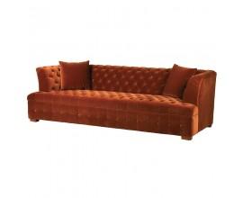 Moderná luxusná čalúnená sedačka Thieny Mandarin 245cm oranžová