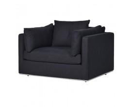 Moderné luxusné štvorcové kreslo Bettine čierne