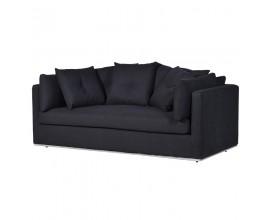 Moderná luxusná dvojsedačka Bettine čierna 190 cm