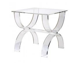 Moderný luxusný konferenčný stolík Eglantine sklenený 55 cm
