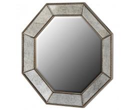 Vintage zrkadlo s maslovým lemovaním a kovovým zlatým zdobením