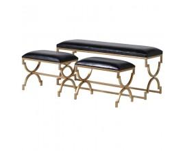 Art-deco set lavíc čiernej farby so zlatou opornou konštrukciou