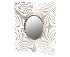 Luxusné art-deco zrkadlo so zlatým rámom v tvare lúčov Janina 130cm