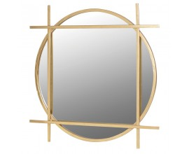 Luxusné art-deco zrkadlo so zlatým dizajnovým rámom Jeanina 97cm