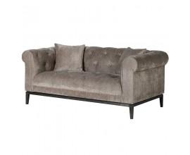 Luxusná chesterfield sedačka Maelynn tmavosivá 168cm