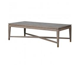 Exkluzívny konferenčný stolík Walena sivej farby