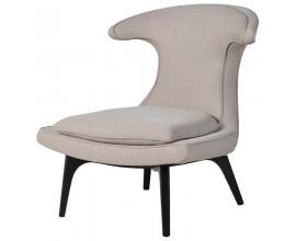 Moderná jedálenská stolička Pruitt s vysokým operadlom smotanovej farby