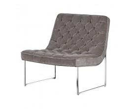 Art-deco luxusná stolička Nouvel šedá