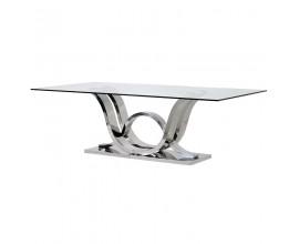 Art-deco luxusný jedálensky stôl Nouvel sklenený 240 cm