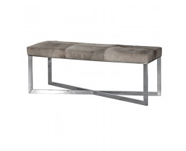 Art-deco luxusná obdĺžniková lavica Tallys šedá