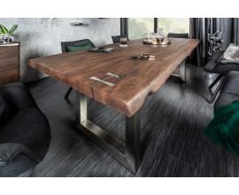 Moderný luxusný jedálensky stôl Hege agát 200cm z masívneho dreva