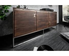 Moderný luxusný príborník Hege agát 147 cm z masívu a kovu