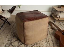 Luxusný vintage taburet Marlon hnedý 45 cm